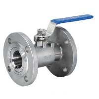 DN15 Reduced Bore One Piece Ball Valve Flange End With Manual Operated