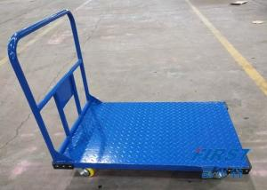 China Logistics Blue 300KG 500*700mm Steel Platform Trolley on sale