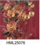 European Style Peony Colorful PVC 0.53*10M Home Decor Wallpaper