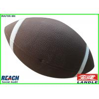 China Professional Brown Mini American Football Size 9 , Personalised Rugby Ball on sale