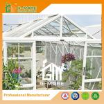 Aluminum Frame+PC, Durable Quickly Assemble Polycarbonate Greenhouse - 377X253X250CM (L X W X H)