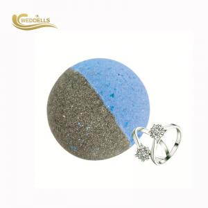 China Essential Oil Jewelry Bath Bombs , Round Bath Bombs With Surprise Inside FDA Approved on sale