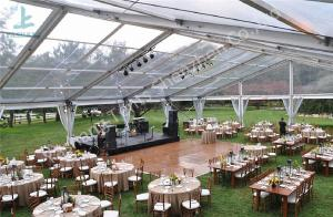 China Clear Top PVC Fabric Cover Outdoor Luxury Wedding Marquee Tents With White Linings on sale