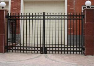 China Double Swing Metal Automatic Driveway Gates Zinc Plated For House / Villa on sale