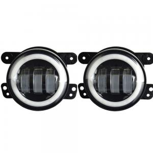 China 4-inch 30W*2 CREE LED Fog Lights Halo Ring Angel Eyes for Jeep Wrangler 97-16 JK TJ LJ ATV (1 Pair) on sale
