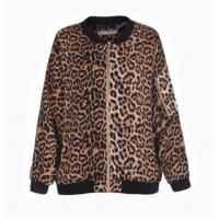 China Leopard Printed Ladies Stylish Coats Anti Shrink Thick Long Sleeve Simple Design on sale