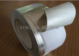 China Fita revestida à prova de fogo autoadesiva da tela da fibra de vidro, alumínio uma fibra de vidro revestida do lado on sale