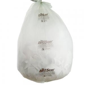 China 60 Gallon Compostable Garbage Bags , Star Sealed Bottom LDPE Garbage Bags on sale