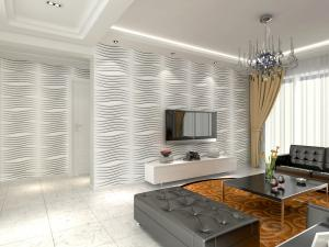 Fashion Modern Textured 3D Wall Decor Panels / 3 Dimensional ...