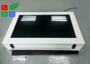 China Large Screen LCD Digital Signage Display , Outdoor 2000 Cd/M2 Brightness LCD AD Display on sale