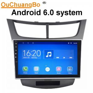 China Ouchuangbo car radio multi media stereo android 6.0 for Chevrolet Sail with 3g wifi gps navigation dual zone 4*45 Watts on sale