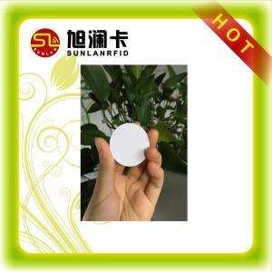 China LF / HF / UHF RFID Tag Plastic / Coated Paper Small Round 3M Glue Anti metal Material on sale