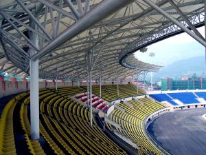 China Steel Pipe Truss Adopted Steel Structure Fabrications Large Span Stadium on sale