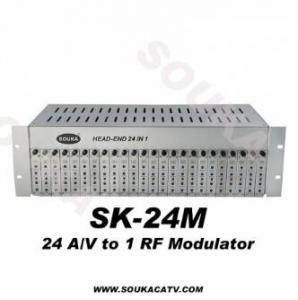 China 24 In 1 Analog Fixed Channel Modulator Headend on sale