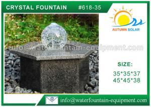 Hexagon Base Natural Stone Fountains Outdoor For Lanscape