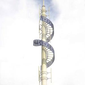 Mobile Cell Phone Telecommunication Towers Tubular Monopole Tower