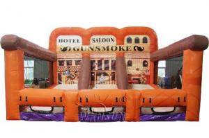 China Gunsmoke 3 Lane Inflatable Shooting Gallery Indoor / Outdoor Inflatable Games on sale