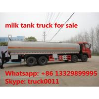 factory sale dongfeng tianlong 6*4 30cbm liquid food tank truck for sale, stainless steel tank for liquid food for sale