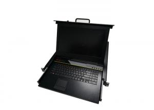 China 17 Inch LCD KVM Monitor Switch Long Using Life 4 Ports For 4 Computers on sale