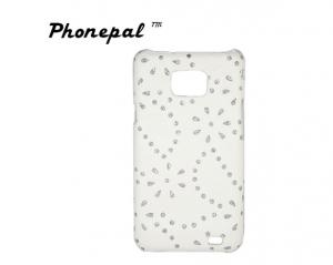 China Sticker and inset diamonds samsung protective cases for Samsung i9100 galaxy S2 on sale