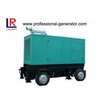 China Green Diesel Trailer Mobile Electric Power Generators Three Phase on sale
