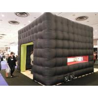 Black cube exhibition tent inflatable