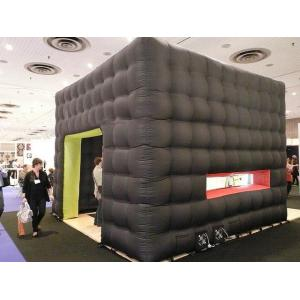 China Black cube exhibition tent inflatable on sale