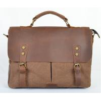 new arrival canvas messenger bag with crazy horse leather