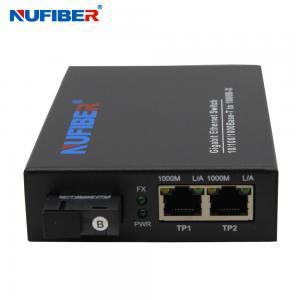China 10/100/1000M 2-port Rj45+1 fiber port single  fiber SM 1310nm 20km SC Fiber Optic Ethernet Switch media converter on sale