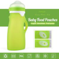 100% Food Grade FDA/LFGB Standard Squeezable Silicone Baby Feeding Bottle Infant Feeder
