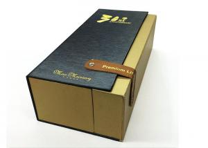 China Clamshell Style Wine Bottle Presentation Box , Unique Wine Gift Wrap Boxes on sale