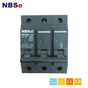 China NBSM8-125 3P Smart Plug Fuse Circuit Breaker 30A Thermal / Magnetic Release on sale
