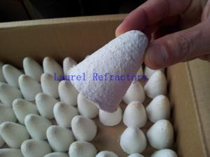 China Small Furnaces Ceramic Fiber Refractory Formed Shapes , Foundry Riser Sleeves on sale