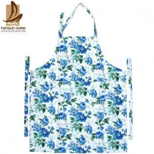 China Flower Printed Twill Weave Fabric Personalized Cooking Aprons Fashionable Aprons on sale