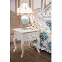 China Europen Style Bedroom Furniture Wood Antique Flower Nightstand B-9001 on sale