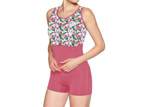 China Floral Sleeveless One Piece Rash Guard Swimsuit For Girl Surfing Sun Protection on sale