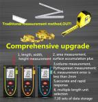 High precision infrared handheld Laser measuring instruments for Construction and house decoration
