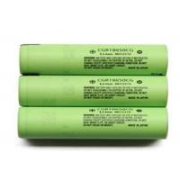 High Capacity 3.6V Cylindrical Lithium Battery 2250mAh , Panasonic 18650 Battery
