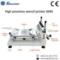 High Precision 3040 Manual Solder Paste Printer Machine 300*400mm For PCB Production Line