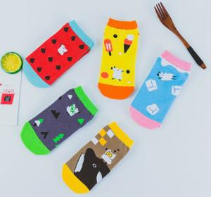 China Teen Girl Ankle Length Socks / Designer Ankle Socks Stylish Any Size Available on sale