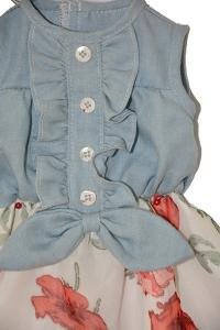 China denim vest  with skirt doll clothes for sales on sale