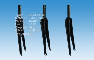 Quality Road Carbon Bike Fork , Monocoque Structure Carbon Disc Fork  HT-FK002 for sale