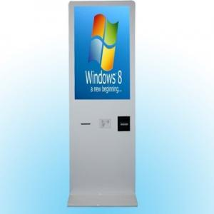 China Ticket Vending Self Service Kiosk With Barcode Scanner / Tempered Glass on sale