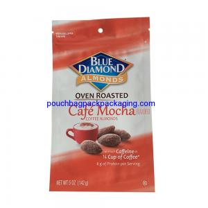 China Custom stand up pouch with zipper, Printed Aluminum Foil standing zip bag for almond on sale