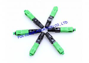 China Quick Connect FTTH Fiber Optic Connector SC SM Field Installable on sale