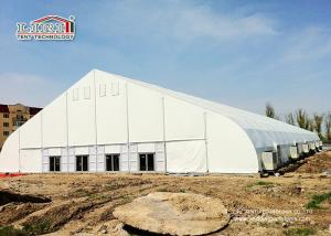 China Movable White PVC Aluminum Expo TFS Curved Tent 40m Clear Span with Air Conditioner on sale