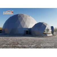 Flame Retardant 20m Geodesic Dome Tent  for 500 People Event Center and Wedding Center