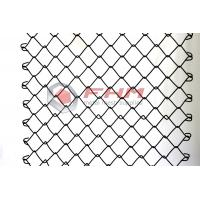 China Chinese Manufacturer of Black Chain Link Fence Wholesale 50mm Hole Size 9 Gauge Wire on sale