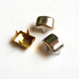 China Nailheads decorativo para os dentes de couro do projeto 4; Cabeças pontadas do prego do pé longo; Metal Nailhead de couro on sale