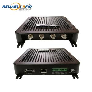 China Impinj R2000 Chip Passive Long Range 4 Port UHF RFID Fixed Reader on sale
